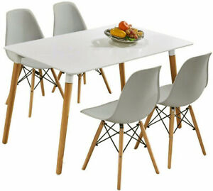 details sur table salle a manger rectangulaire scandinave design table de cuisine blanche