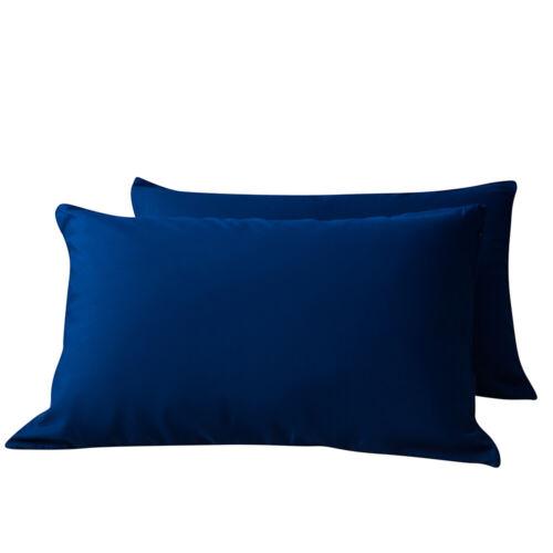 zipper closure pillow case pillowcase cover microfiber queen 2 pack solid color pillowcases uniforce home garden