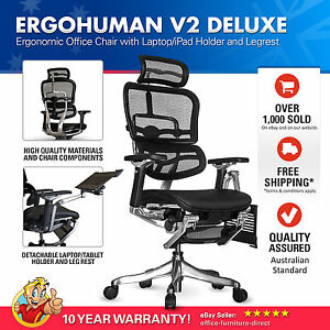 raynor ergohuman chair aeron spare parts v2 deluxe mesh ergonomic office with laptop image is loading