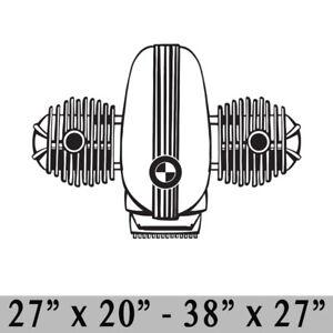 BMW Airhead Vinyl Decal Sticker Wall r12 r60 r75 r80 r90