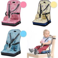 Portable High Chair Booster Dining Covers Gray Baby Kids Toddler Feeding Seat Cover Image Is Loading