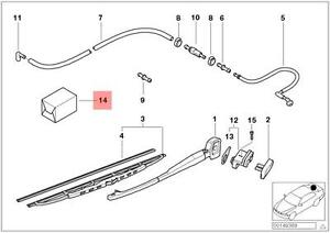 Genuine BMW 5 Series E39 Wagon Rear Wiper Hose Line Repair