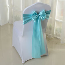 chair covers and bows ebay game store 100 spa tiffany blue wedding satin sash sashes banquet item 1 cover decor untied 6 x 108 10 50 100pcs