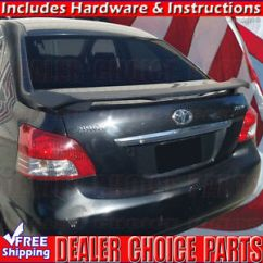 Toyota Yaris Trd Parts Bumper Depan Grand New Veloz 2007 2012 4dr Matte Black Oem Factory Style Spoiler Image Is Loading