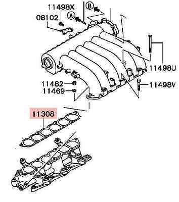 Genuine Inlet manifold plenum Gasket Mitsubishi Magna 3.0l