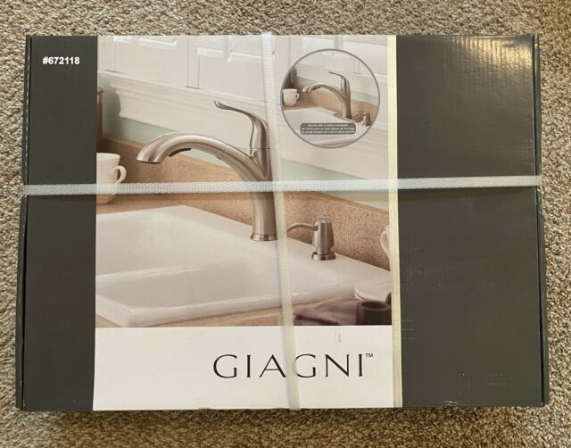 giagni lk200 ss abete stainless steel deck mount pull out kitchen faucet 672118