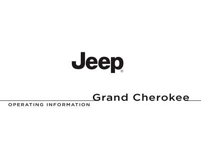 Jeep Grand Cherokee Owner's Manual 2011, 2012, 2013