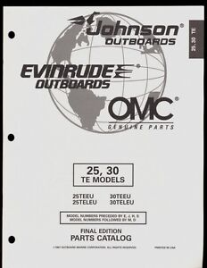 1997 OMC /JOHNSON / EVINRUDE 25, 30 TE MODELS OUTBOARD