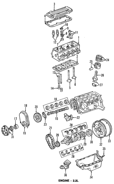 Genuine GM Oil Pump & Pickup 88984187 Chevrolet S10 & GMC