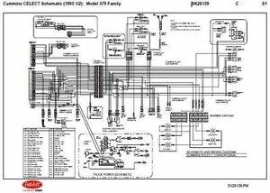 30 Amp Esc Wiring Diagram 1995 5 Peterbilt 379 357 375 377 378 Cummins N14 Celect