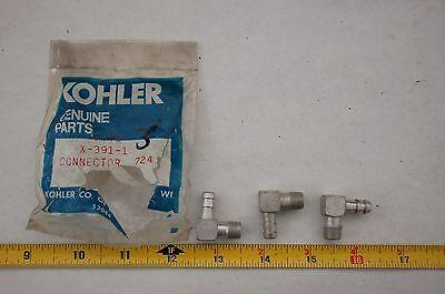 vintage nos kohler fuel line connector