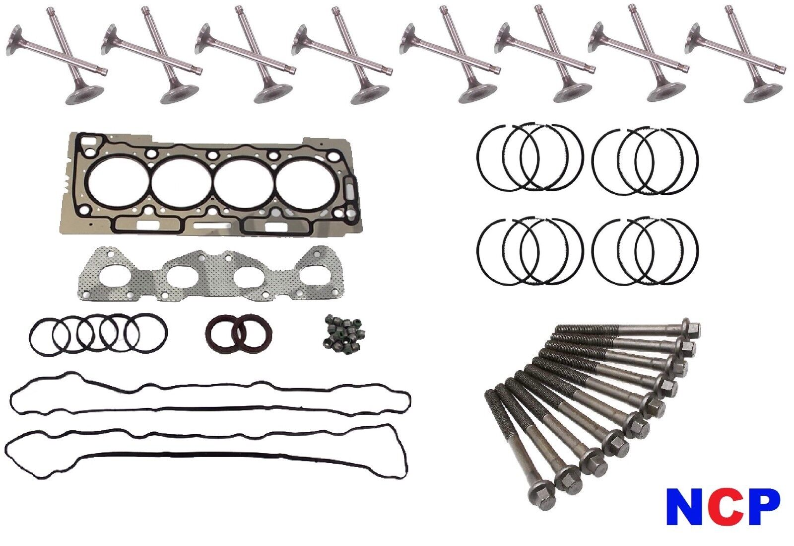 PEUGEOT 206 CITROEN C2 1.1 8V TU1P HEAD GASKET SET BOLTS