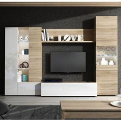Furniture Cabinets Living Room Wall Color With Gray Couch Essential Tv Media Unit Oak White Melamine Glass Led S