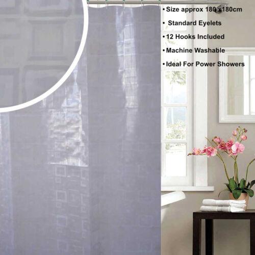 shower curtain grey white 180 x180cm extra long 180 x 200cm shower curtain hooks