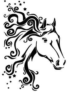 STENCILS CRAFTS TEMPLATES SCRAPBOOKING HORSE HEAD STENCIL