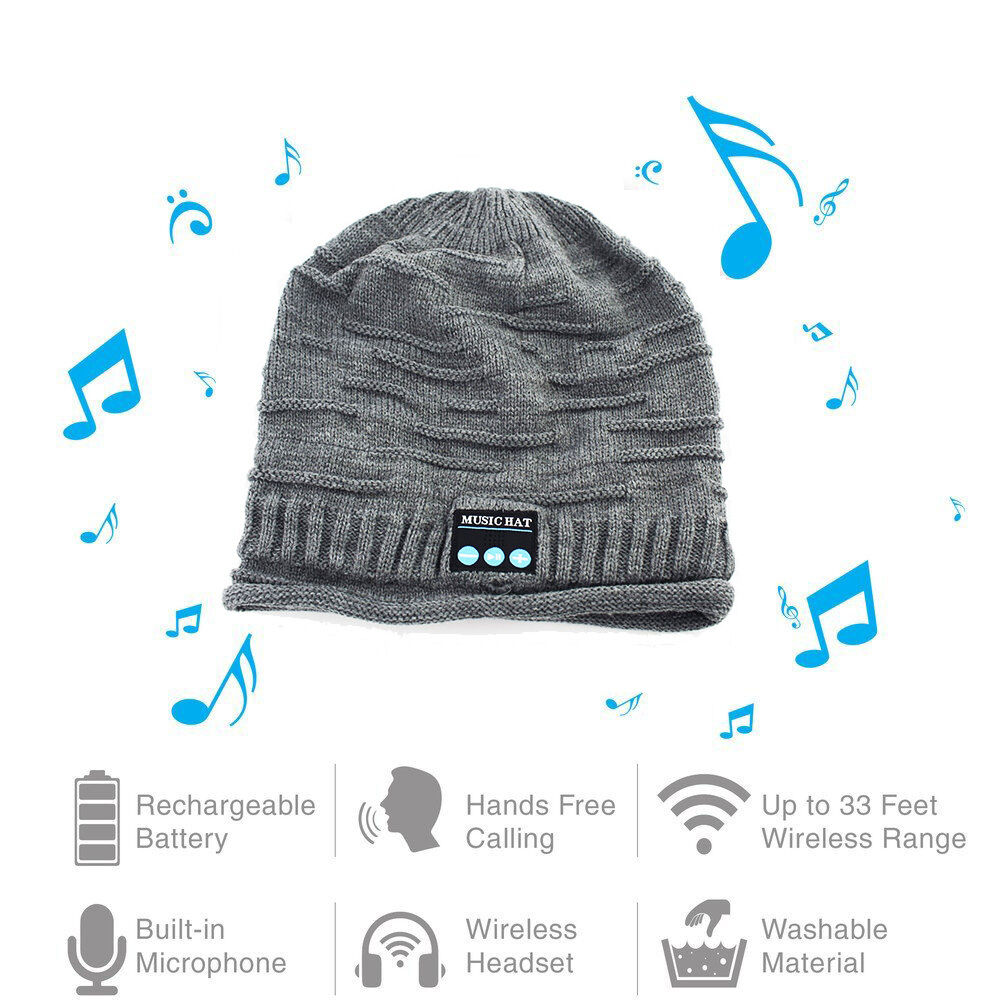 Beanie Hat Wireless Bluetooth Headphone Music Hat With