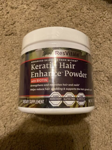 ResVitale Keratin Hair Enhance Powder With Biotin 2.75 Oz ...