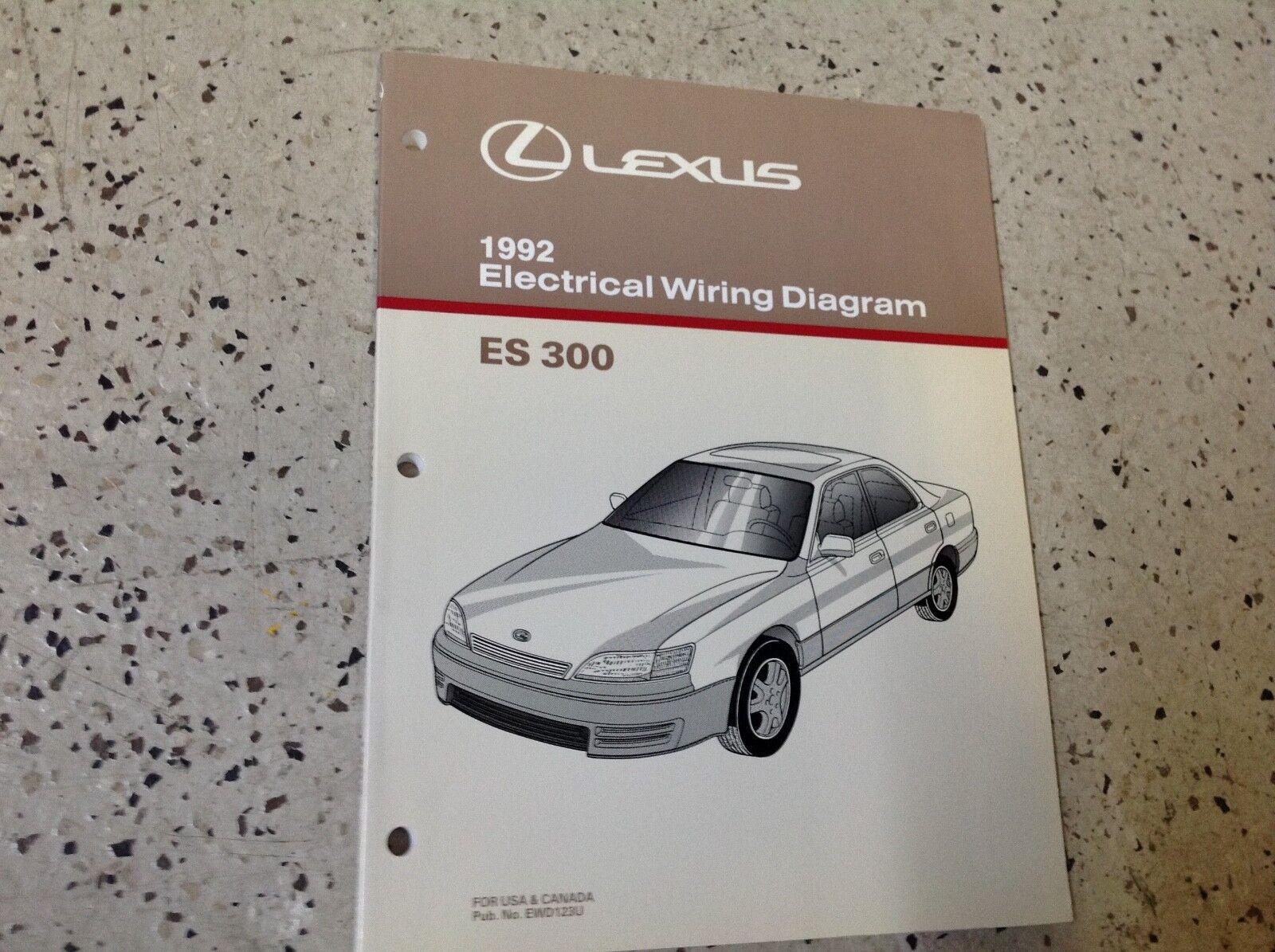 hight resolution of 1992 lexus es 300 electrical wiring diagram manual original es300 oem shop ebay
