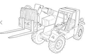 Telehandler / Terex Lift TX51-19MD Filter Head / Bracket