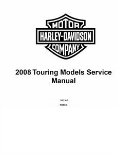 2008 Harley Davidson Road Glide FLTR Service Shop Manual