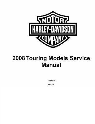 2008 Harley Davidson Touring Models Service Shop Manual