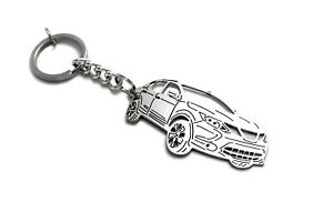 Keychain fit Nissan Qashqai II Car Stainless Steel Keyring