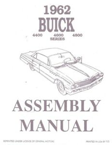 1962 Buick Electra Invicta LeSabre Assembly Manual Rebuild