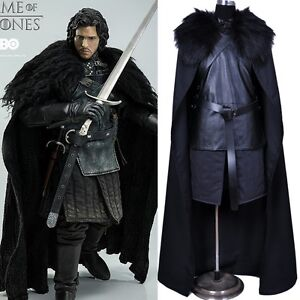 Adult Game of Thrones Jon Snow Cosplay Costume Fancy Party