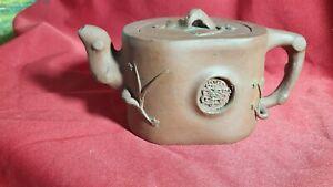 Antique Chinese Yixing Zisha Teapot Signed in Base