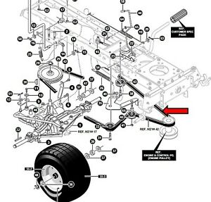 MURRAY 125/102 mower transmission drive belt HAMU94608