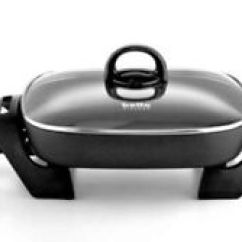 Bella Kitchen Weekly Hotel Rates With Kitchens New Black 12 Non Stick Electric Skillet Ebay Image Is Loading 034