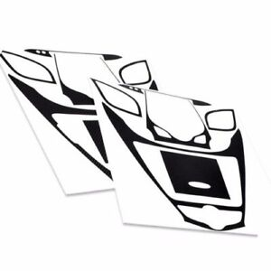 Ineterior Center Fasia Carbon Panel Mask Decal Sticker for