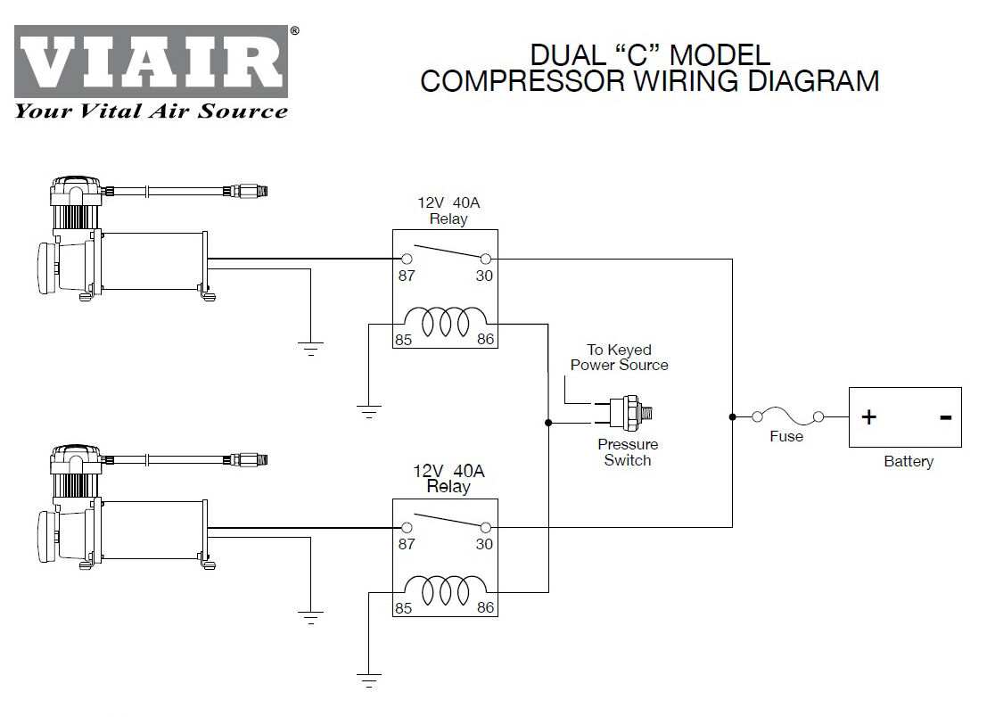 viair wiring diagram 1986 bayliner capri heavy duty 60 amp fuse holder 8 gauge wire air ride