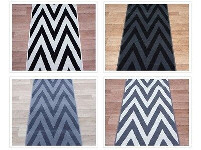 Hall Stairs Zigzag Carpet Runner Any Size X 60Cm 4 Colours | Zig Zag Stair Carpet | Winding Staircase | Geometric | Metal Bar On Stair | Red | Traditional
