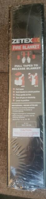 ZETEX Fire Blanket. 6' x 4' Woven Fiberglass BS476 Part 7 & UL 214 Emergency   eBay