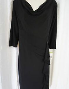 Image is loading evan picone dress sz black chick also peek business cocktail little rh ebay