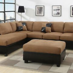 Sectional Sofa Couch Princess Flip Sectionals Loveseat Couches With Free Ottoman Image Is Loading
