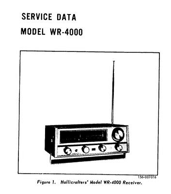 Hallicrafters wr-1000, wr-4000 Service Manual Schematics