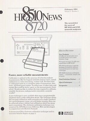 Hewlett Packard HP 8510 / 8720 News Newsletter February