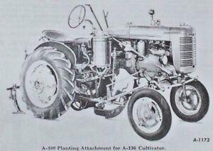 IH 1939-1947 Farmall A Tractor McCormick A-99 A-100