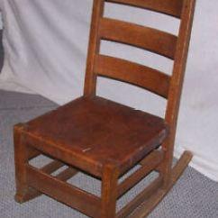 Antique Sewing Chair Gravity Target Mission Oak Rocking Gustav Stickley Ebay Image Is Loading