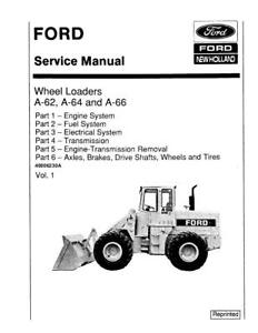 NEW HOLLAND FORD SE3450 A6, A64, A66 WHEELL LOADERD