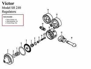 Victor 250-15-510 & 250-15-300 Acetylene Regulator Rebuild