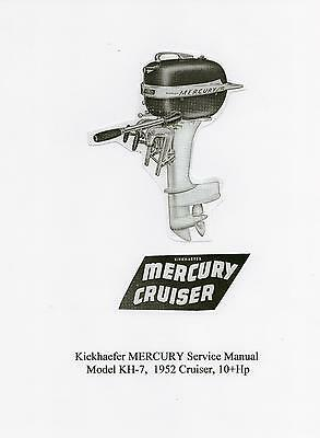 Vintage Mercury Model KH-7 'Cruiser' 10Hp Outboard Service