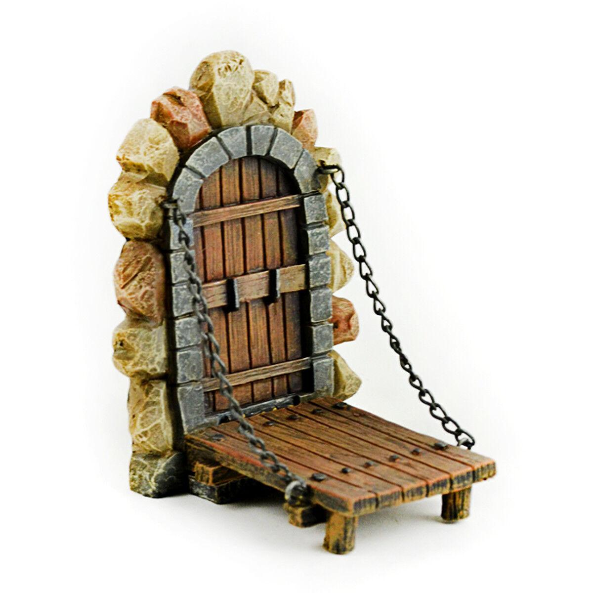 Miniature Dollhouse Fairy Garden Draw Bridge Accessories