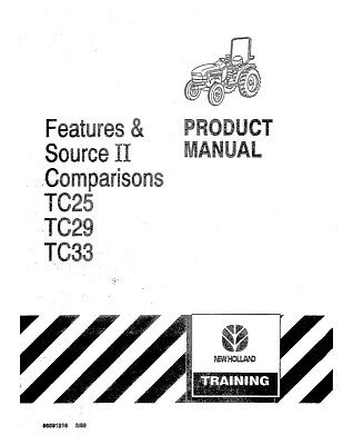 NEW HOLLAND TC25 TC29 TC33 Tractor Product OPERATORS