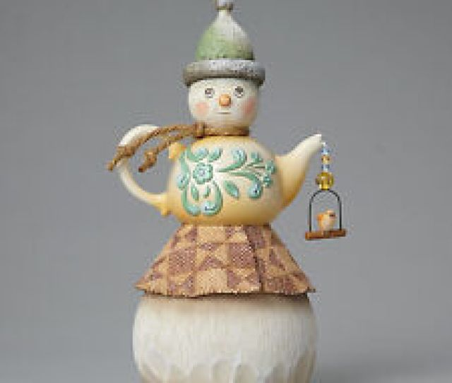 Item  Teapot Snowman Figurine Jim Shore Rivers End Christmas Decor New In Gift Box Teapot Snowman Figurine Jim Shore Rivers End Christmas Decor New In