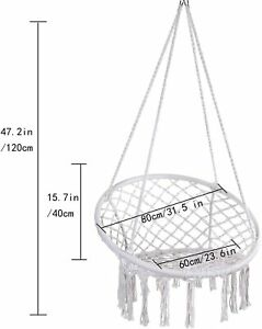 Sales Products Hammock Chair Macrame Swing, Hanging Cotton