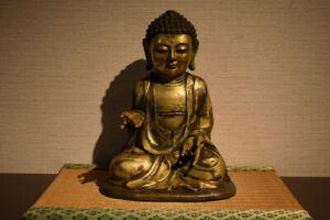 antique chinese gilt bronze buddha