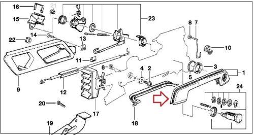 US STOCK x2 Door Handle Gasket Rubber Seals for BMW E36